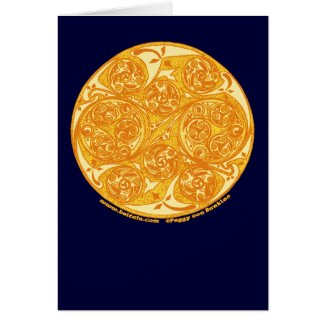 Celtic Spiral Card, Sun Mandala Design