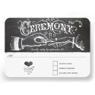Ceremony Chalkboard Response Card
