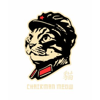Chairman Meow! Outlined shirt