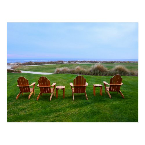Chairs at 18th Green, Kiawah Island Golf Course Postcard