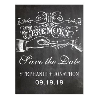Chalkboard Ceremony Vintage Save the Date