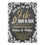 Pretty Vintage Inspired I Do BBQ invitation
