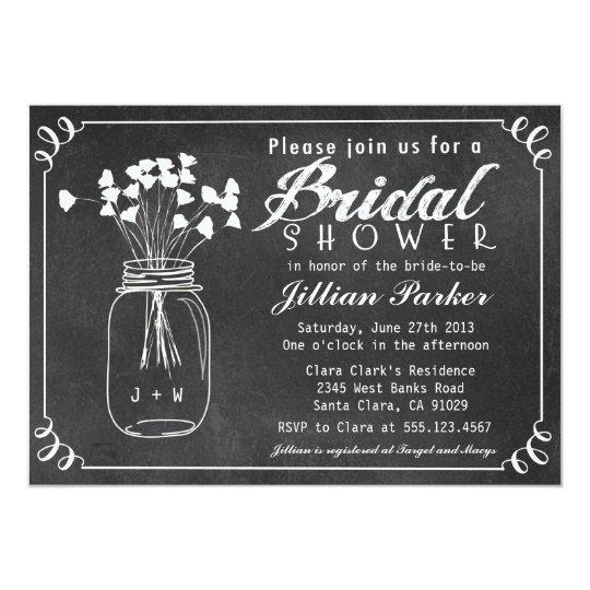Zazzle Bridal Shower Invitations Mason Jars