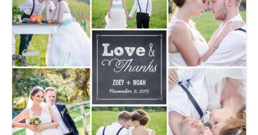 Vine Thank You Wedding Card