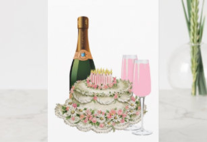 Happy Birthday Cake And Wine Gifts On Zazzle