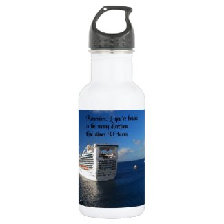 Changing direction in life 18oz water bottle