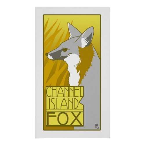 Channel Island Fox Poster