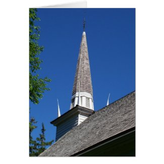 Chapel Steeple Card card