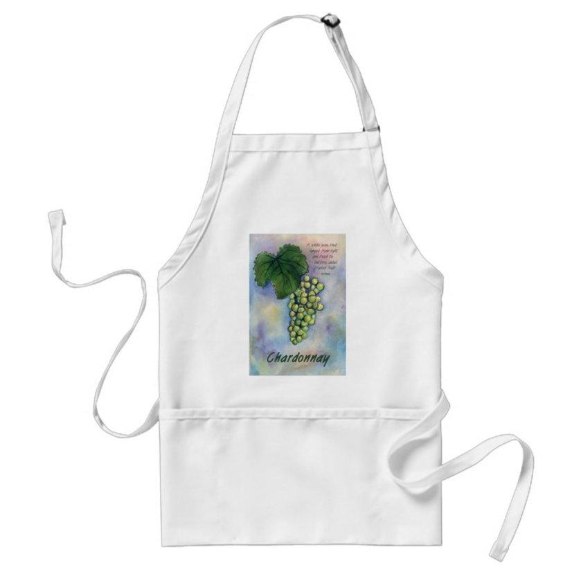 Chardonnay Wine Grapes & Description Apron