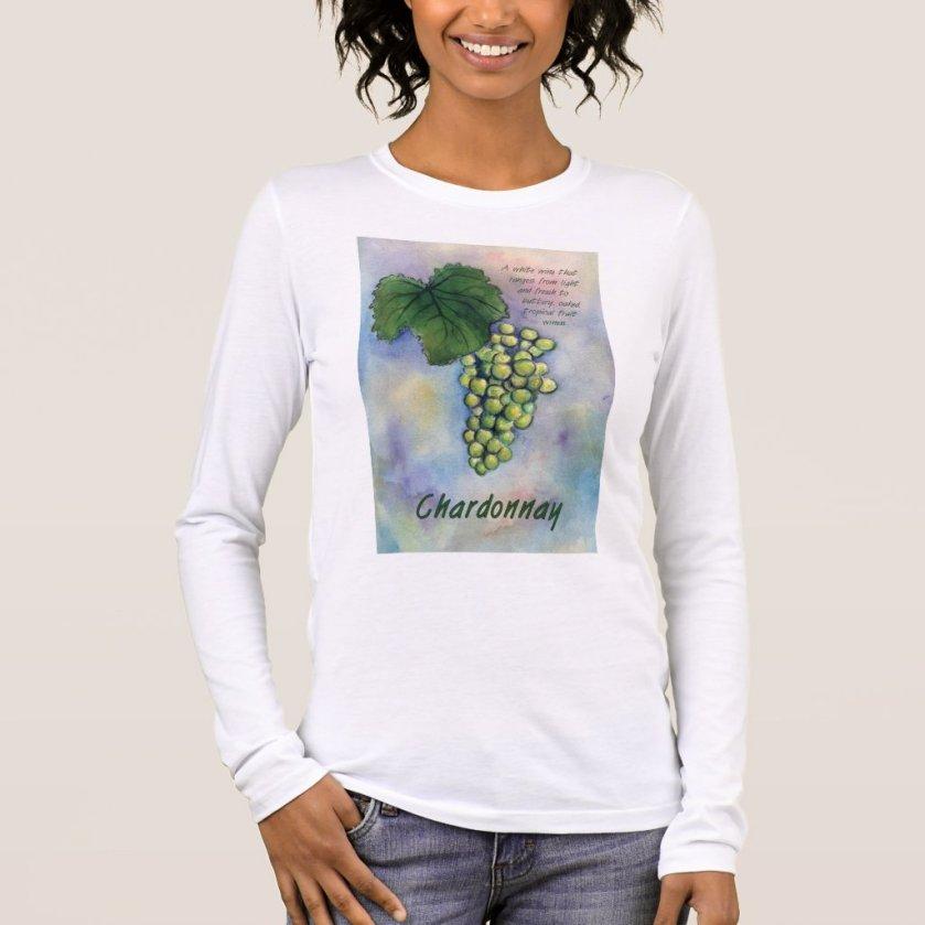 Chardonnay Wine Grapes & Description Shirt