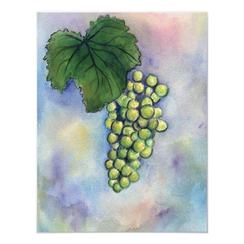 Chardonnay Wine Grapes Invitation