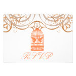 Charming Coral Birdcage Rsvp Invitation