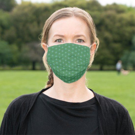 Charming Green Hexagon Star Pattern Cloth Face Mask