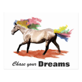 Chase your dreams - Rainbow Horse Postcards