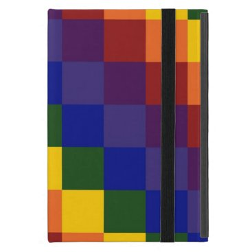 Checkered Rainbow iPad Mini Case