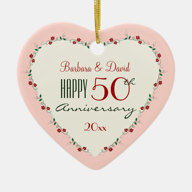 Cheers To 50th Wedding Anniversary Christmas Gifts Ceramic