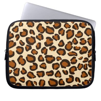 Cheetah animal brown pattern computer sleeves
