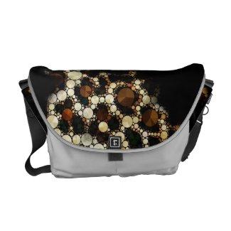 Cheetah Bling Ripped Med. Rickshaw Messenger Bag