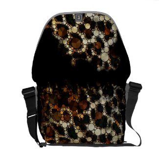 Cheetah Bling Ripped Med. Rickshaw Messenger Bag