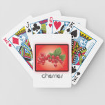 Cherries playing cards