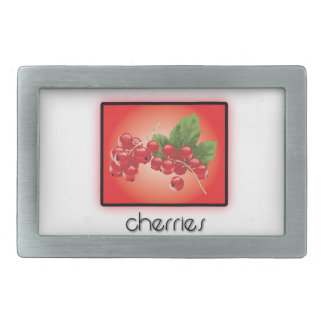 Cherries Rectangular Belt Buckle