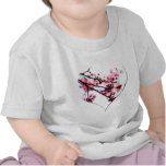 Cherry Blossom Heart t-shirts