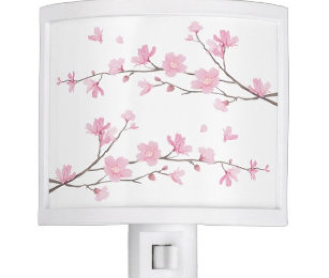 Cherry Blossom Transparent Background Night Light