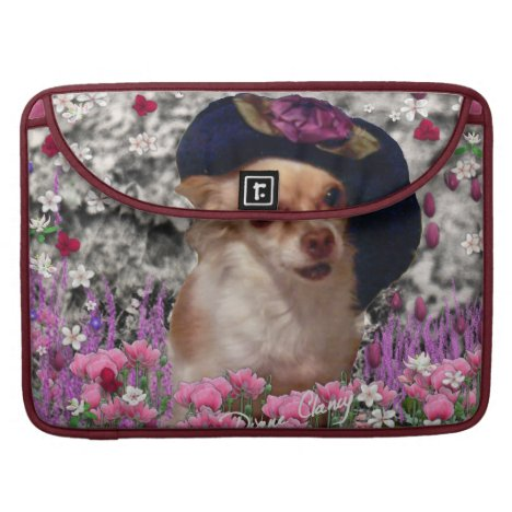 Chi Chi in Flowers  - Chihuahua Puppy in Cute Hat Sleeve For MacBooks