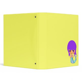chibi magical mermaid purple hair binder