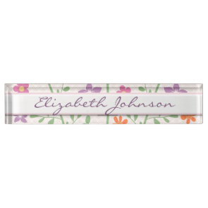 Chic Floral Pattern Design Monogram