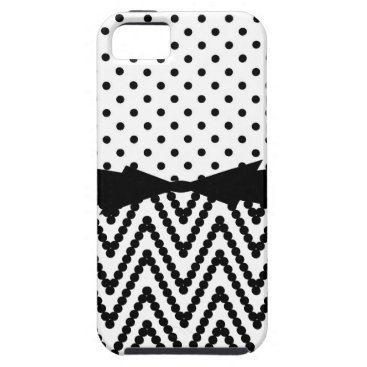 CHIC IPHONE5 CASE_BLACK DOTS ON WHITE iPhone SE/5/5s CASE