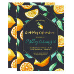 ❤️ Chic Lemon Citrus Birthday Invitation