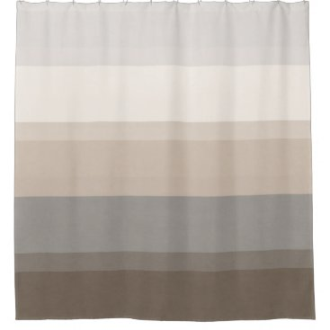 Chic Taupe, Cream and Gray striped shower curtain