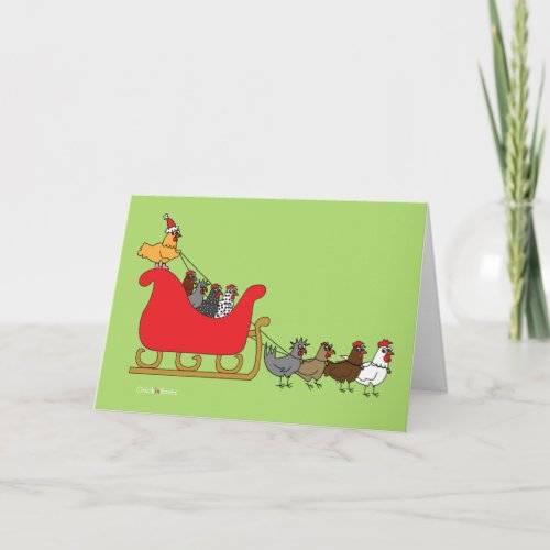 Chickens Christmas Holiday Card