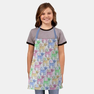 Chihuahua Lover Colorful Pattern Apron
