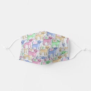 Chihuahua Lover Colorful Pattern Cloth Face Mask