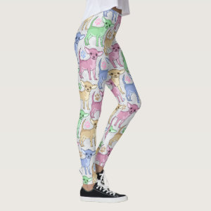Chihuahua Lover Colorful Pattern Leggings