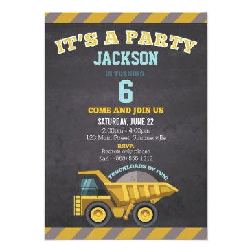 Children's Birthday Invitation (construction)