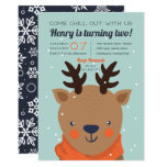 Chill Out | Winter Reindeer Birthday Party Invitation