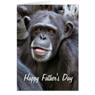 Chimpanzee Photo Happy Father's Day Greeting Card