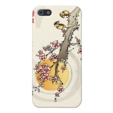 Chinese Cherry Blossoms Love Birds Case For iPhone SE/5/5s