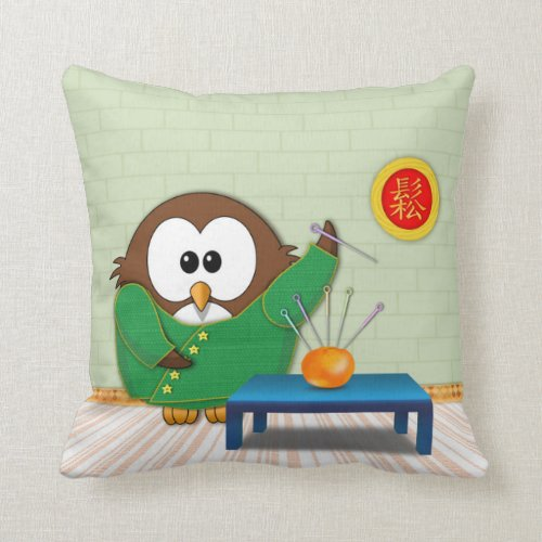 Chinese doctor owl - pillow