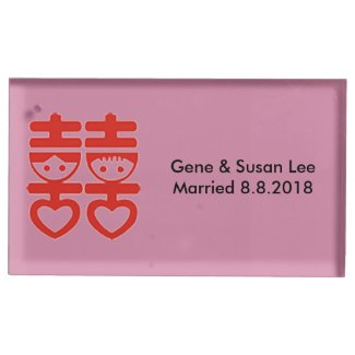 Chinese Wedding Table Card Holder