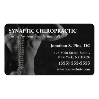 Chiropractor Photo Business Cards