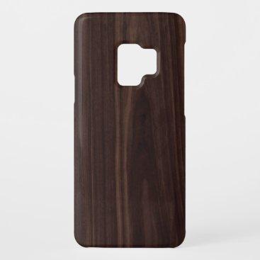 Chocholate Mahogany Dark Wood Grain Texture Case-Mate Samsung Galaxy S9 Case