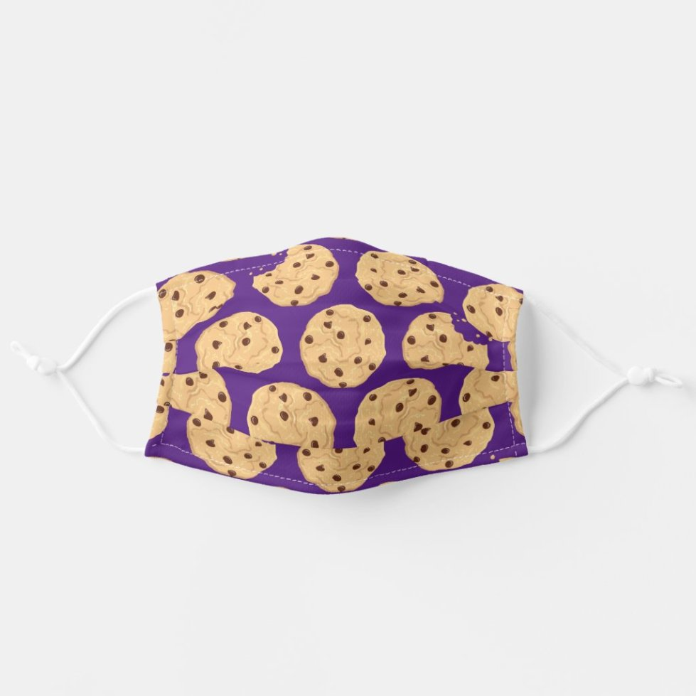Chocolate Chip Cookie Cute Summer Food Print Cloth Face Mask