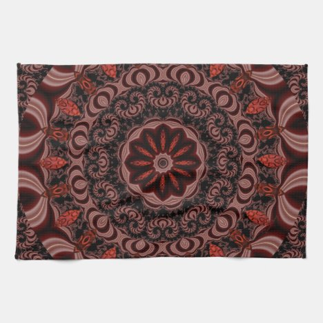 Chocolate, Raspberries, Peppermint Stick Abstract Towel