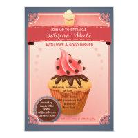 Chocolate Sprinkles Baby Sprinkle Invitation