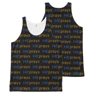 Christian HE PRAYS All-Over-Print Tank Top