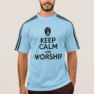 Christian KEEP CALM AND WORSHIP Men's T-Shirt